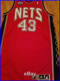 Kris Humphries 2011-2012 NETS Game Worn Used Jersey 3XL+4 Pro Cut Team Issue