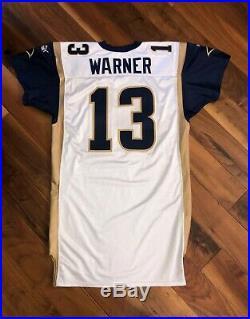 Kurt Warner's 2000 St. Louis Rams NFL Super Bowl XXXVI Game-Issued Jersey Worn