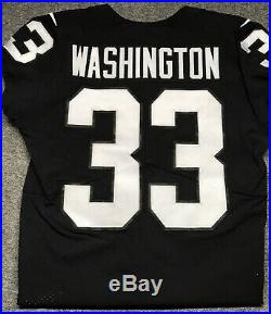 LA Oakland Raiders DeAndre Washington Game Worn Used Team Issued Nike Jersey 42