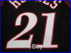 LARRY HUGHES'98 game issued jersey authentic philadelphia 76ers pro cut iverson