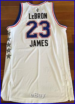 Lebron James 2015 Nba All Star Game Issued Jersey Worn/used