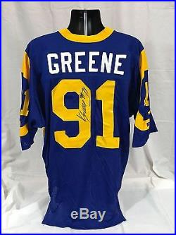 Los Angeles Rams Kevin Greene Game Issued Signed Home Jersey Jsa/heritage Loa