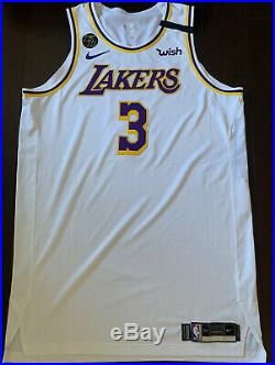 Lakers Anthony Davis Team Issued Pro Cut Jersey Game Worn Kobe Bryant Patch