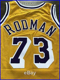 Lakers Dennis Rodman Game Issued Jersey 98-99 Nba Kobe Jordan Bulls Pistons Worn
