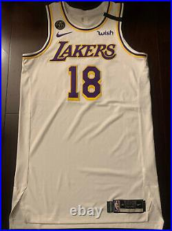 Lakers Dion Waiters Team Issued Pro Cut Jersey Game Issued Kobe Bryant Patch