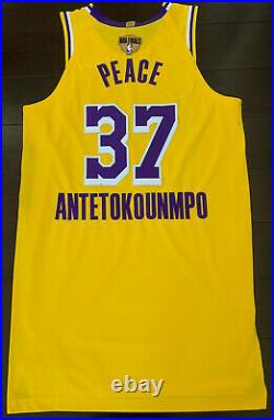 Lakers Kostas Antetokounmpo Pro Cut Player Jersey Game Worn NBA Finals Issued