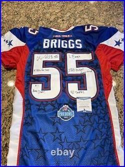 Lance Briggs Signed Game Issued 2008 Pro Bowl Bears Reebok Pro Cut Jersey