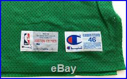 Larry Bird Autographed Authentic Champion Pro Cut Game Issued Jersey Size 46 +3