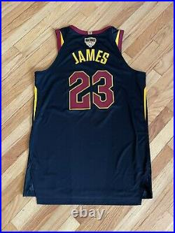 LeBron James 2018 NBA Finals Game 1 Issued Cleveland Cavaliers Jersey worn used