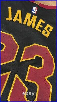 LeBron James CAVs game worn used team issued pro cut jersey
