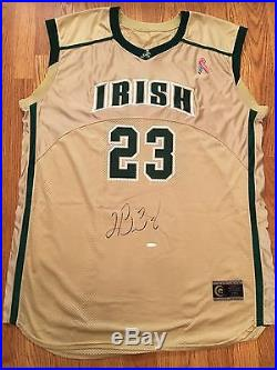 LeBron James UDA Auto Signed St. Vincent-St. Mary High School Game Issued Jersey