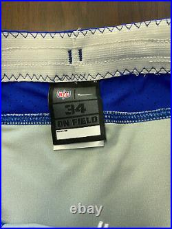 Los Angeles Chargers RARE Team Issued Nike NFL Jersey Pants Sz 34 Game BLUE