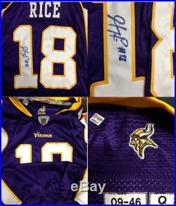 Lot of 34 Minnesota Vikings SIGNED GAME WORN TEAM ISSUED Jerseys Williams Moss