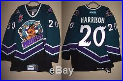MANITOBA MOOSE 96 THROWBACK GAME ISSUED NOT WORN JERSEY JAY HARRISON 20