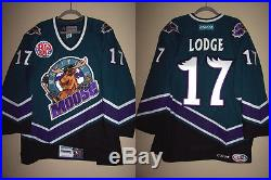 MANITOBA MOOSE 96 THROWBACK GAME ISSUED NOT WORN JERSEY JIMMY LODGE 17