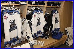 MANITOBA MOOSE AHL AUTISM AWARENESS GAME ISSUED NOT WORN JERSEY BLOMQVIST 23