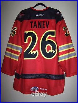 Manitoba Moose Fire Fighter Day Game Issued Not Worn Jersey Brandon Tanev 26