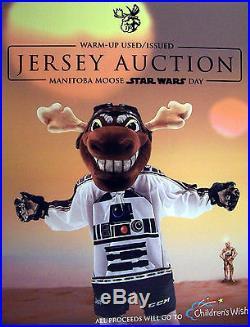 Manitoba Moose Star Wars Night Game Issued Not Worn Jersey Kevin Czuczman 27