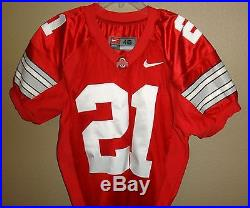 Mens 46 Nike Authentic Ohio State Buckeyes #21 Football Game Team Issued Jersey