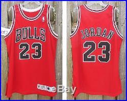 dd6261774ff MICHAEL JORDAN Game Issued Jersey 96 Champion Chicago Bulls pro cut 46  authentic