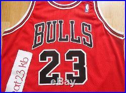 MICHAEL JORDAN Game Issued Jersey 96 Champion Chicago Bulls pro cut 46 authentic