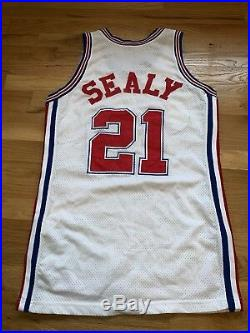 Malik Sealy #21 Los Angeles Clippers Champion Authentic Team Game Issue Jersey