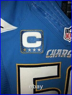 Manti Teo 2016 Game Issued San Diego Chargers Nike Jersey With Captain Badge