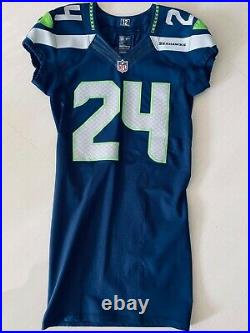 MarShawn Lynch game issued jersey Seattle Seahawks Authentic