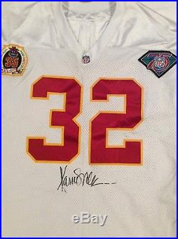 Marcus Allen signed game used game issued jersey