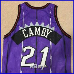 Marcus Camby Toronto Raptors Champion Jersey Game Issued Size 48 Length +3 Nba