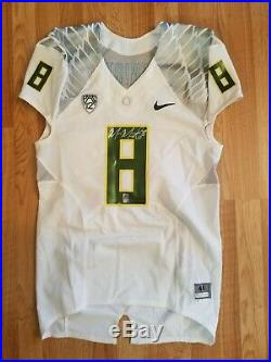 Marcus Mariota Oregon Ducks Game Jersey Team Issued Un Worn Used Signed Holo #8