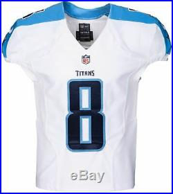 Marcus Mariota Signed Nike Tennessee Titans Team Game Issue Jersey Used