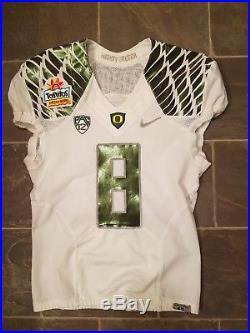 Marcus Mariota Team Issued Fiesta Bowl Oregon Ducks Game Jersey Used