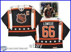 Mario Lemieux GAME ISSUED and SIGNED 1989 All Star Game Pro Jersey LOA Penguins