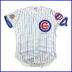 Mark Grace Signed 1990 All-star Game Issued Chicago Cubs Pin-stripe Jersey