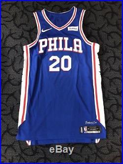 Markelle Fultz Philadelphia 76ers Game-Issued Jersey Fanatics NBA Worn