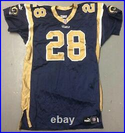 Marshall Faulk Game Issued St. Louis Rams NFL Football Jersey ADULT 50 XL Puma
