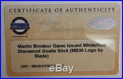 Martin Brodeur New Jersey Devils Game-Issued Goalie Stick Steiner 025477