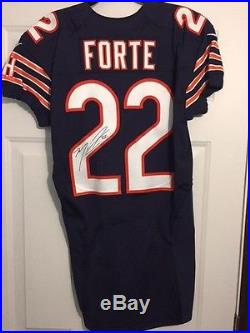 Matt Forte Chicago Bears NFL Game Issued Autographed Jersey