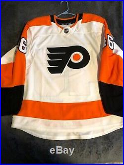 MiC Game Used Team Issued Philadelphia Flyers Adidas Away Jersey #46 Vorobyev 56