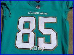 Miami Dolphins Aqua Mitch Mathews 2017 Game Used / Issued Jersey BYU