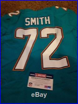 Miami Dolphins Game Issued Jersey London Coa Eric Smith 10/1/17