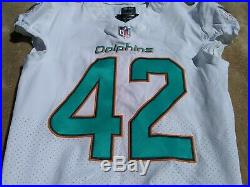 Miami Dolphins White Alterraun Verner 2017 Game Used / Issued Jersey UCLA