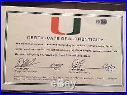 Miami Hurricanes 2016 Adidas TECHFIT Shockweb Game Issued Jersey #32