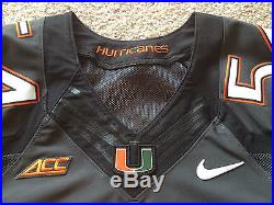 official photos ad7de fe56d Miami Hurricanes Nike Elite Authentic Game Worn Used Issued ...