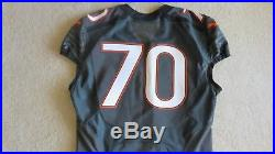 Miami Hurricanes Smoke Authentic Game Issued Used Jersey Sz 50