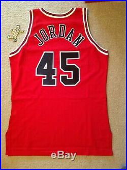 Michael Jordan # 45 Champion Pro Cut Jersey 46 + 3 game issued
