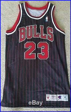 the latest b3e49 917a9 Michael Jordan Game Issued Champion 46+ 3 Authentic Pro Cut ...
