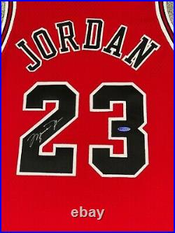 Michael Jordan Signed/Autographed UDA Champion Pro Cut Game Issued Jersey 96-97