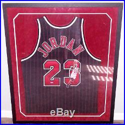 Michael Jordan Signed Game Issued 96-97 Gold Nike Jersey UDA Painted Jessie 9/23